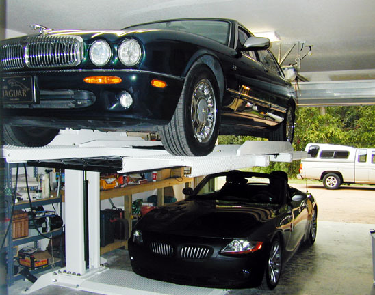 car lift in home