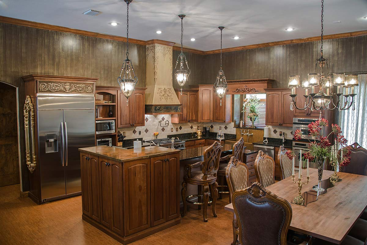 estate home with large kitchen for sale
